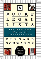 A book of legal lists : the best and worst in American law, with 100 court and judge trivia questions