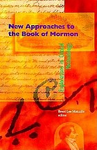 New approaches to the Book of Mormon : explorations in critical methodology