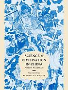 Science and civilisation in China. / Volume 6, Biology and biologicial technology. Part VI, Medicine