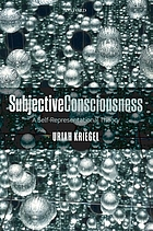 Subjective consciousness : a self-representational theory