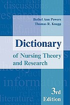 Dictionary of nursing theory and research