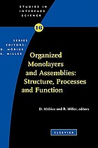 Organized monolayers and assemblies : structure, processes, and function