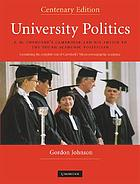 University politics : F.M. Cornford's Cambridge and his advice to the young academic politician