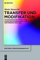 Transfer und modifikation.