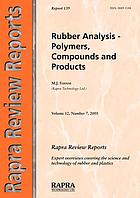 Rubber analysis : polymers, compounds and products