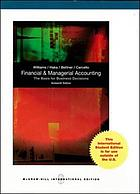 Financial & managerial accounting : the basis for business decisions