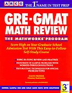 GRE-GMAT math review: the Mathworks program
