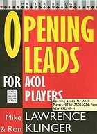 Opening leads for Acol players