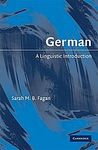 German : a linguistic introduction