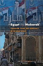 Egypt after Mubarak : liberalism, Islam, and democracy in the Arab world