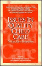Issues in quality child care : a Boys Town perspective