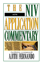Acts : from biblical text-- to contemporary life