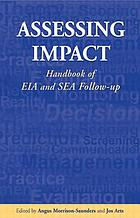Assessing impact : handbook of EIA and SEA follow-up