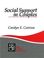 Social support in couples : marriage as a resource in times of stress
