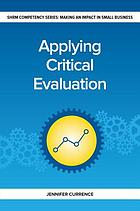 Applying critical evaluation : making an impact in small business HR