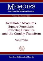 Rectifiable measures, square functions involving densities, and the Cauchy transform
