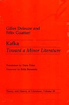 Kafka : toward a minor literature
