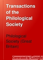 Transactions of the Philological Society.