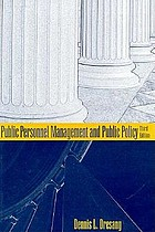 Public personnel management and public policy