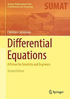 Differential equations : a primer for scientists and engineers