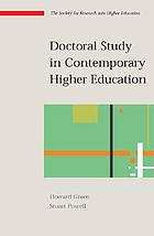 Doctoral study in contemporary higher education