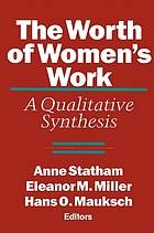 The Worth of women's work : a qualitative synthesis