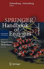 Springer handbook of enzymes. Supplement volume S9, Class 2-3.2, Transferases, hydrolases, EC 2-3.2
