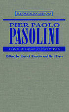 Pier Paolo Pasolini : contemporary perspectives