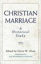 Christian marriage : a historical study