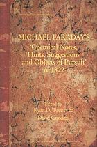 Michael Faraday's 'Chemical notes, hints, suggestions, and objects of pursuit' of 1822