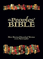The peoples' Bible : new revised standard version with the Apocrypha