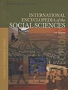 International Encyclopedia of Social Science.