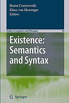 Existence : semantics and syntax