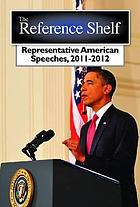 Representative American speeches 2010-2011