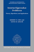 Inverse Eigenvalue problems : theory, algorithms, and applications