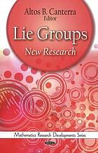Lie groups : new research