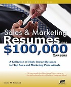 Sales & marketing résumés for $100,000 careers