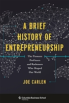 A brief history of entrepreneurship : the pioneers, profiteers, and racketeers who shaped our world