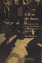 Call to the dance : an experience of the socio-cultural world of traditional Breton music and dance