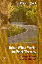 Doing what works in brief therapy : a strategic solution focused approach