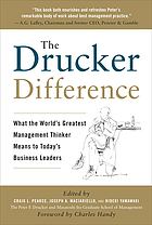 The Drucker difference : what the world's greatest management thinker means to today's business leaders