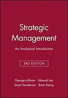 Strategic management : an analytical introduction