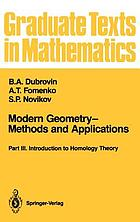 Modern geometry : methods and applications. Part III, Introduction to homology theory