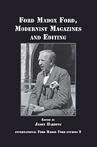 Ford Madox Ford, modernist magazines and editing
