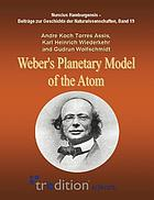 Weber's planetary model of the atom