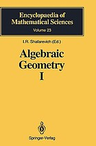 Algebraic geometry I : algebraic curves, algebraic manifolds and schemes