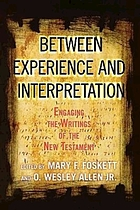 Between experience and interpretation : engaging the writings of the New Testament