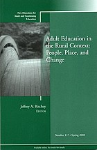 Adult education in the rural context  : people, place, and change