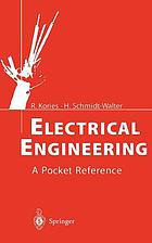 Electrical engineering : a pocket reference