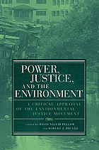 Power, justice, and the environment : a critical appraisal of the environmental justice movement